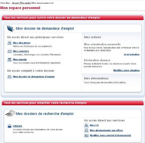 site pole emploi.fr