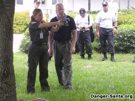 le pistolet tazer ou taser