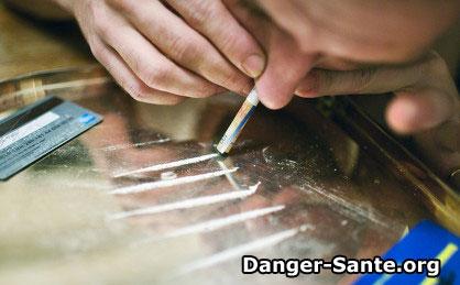 la drogue coke, poudre cocaine