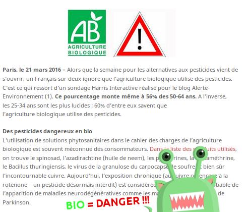 bio et danger