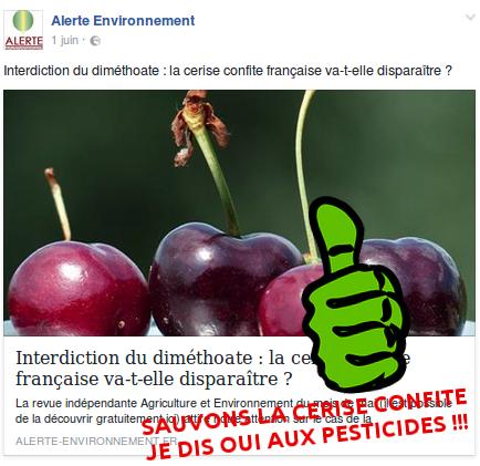 Les cerises confites disent OUI aux pesticides !